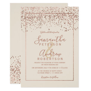 Ivory And Gold Wedding Invitations | Zazzle