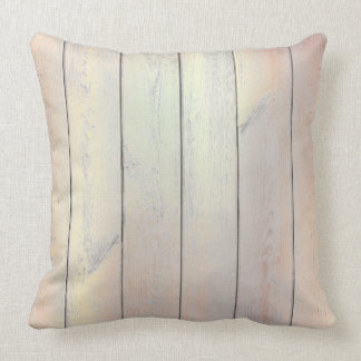 Rose Gold Copper Glam Metallic Wood Cottage Home Throw Pillow