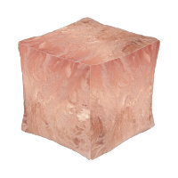 Rose Gold Copper Texture Metallic Hassock Pouf