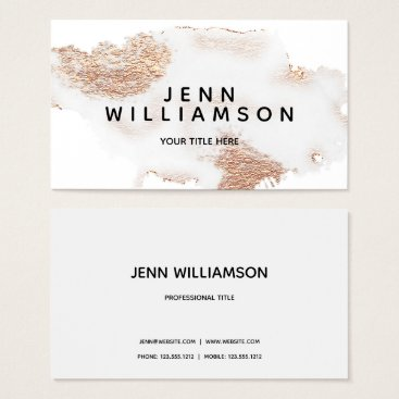 Professional Business Rose gold crystal gray watercolor modern style business card