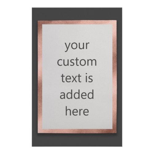 Rose Gold  Dark Gray Modern Custom Text Flyer