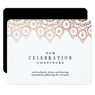 Rose Gold Delicate Wedding Enclosure Card