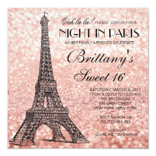 Eiffel Tower Invitations Zazzle