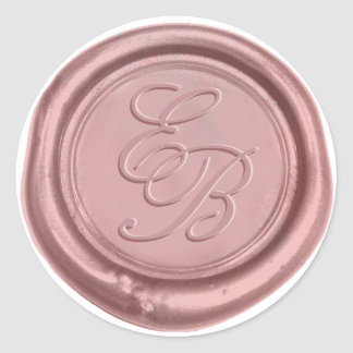 Rose Gold Elegant Wedding Monogram Wax Seal