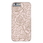Rose Gold Faux Glitter | Blush Pink Floral Lattice Barely There iPhone 6 Case