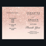 """Rose gold faux glitter pink ombre wedding program<br><div class=""""desc"""">Rose gold faux glitter pink ombre wedding program. A modern,  pretty faux rose gold glitter shower ombre with pastel blush pink block. Perfect for glamour,  chic and elegant wedding theme. The pink backgound is fully customizable</div>"""