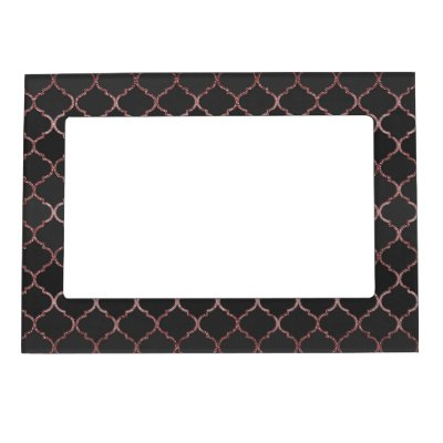 pink glitter rose gold sparkle faux magnetic picture frame zazzle com