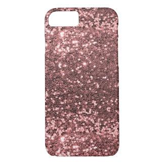 Rose Gold Faux Glitter Sparkle Shine Print iPhone 7 Case