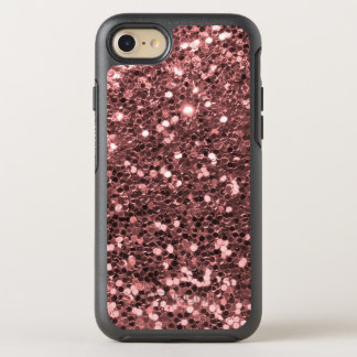 Rose Gold Faux Glitter Sparkle Shine Print OtterBox Symmetry iPhone 7 Case