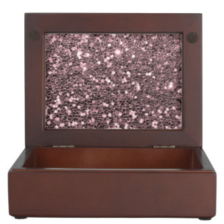 Rose Gold Faux Glitter Sparkles Memory Box