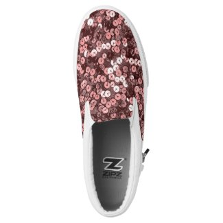 Rose Gold Faux Sequin Slip On Sneakers