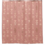 Rose Gold Floral Shower Curtain