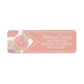 Custom Rose Gold Floral Labels from Zazzle