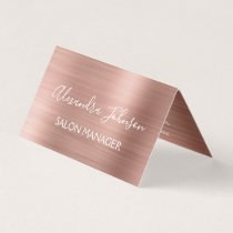 Rose Gold Foil | Blush Pink Foil Modern Business Card