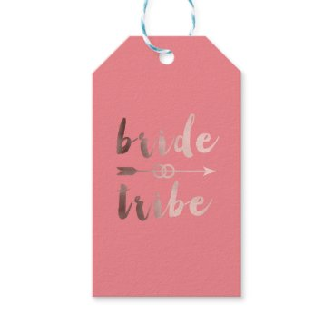 elipsa rose gold foil bride tribe arrow wedding rings gift tags