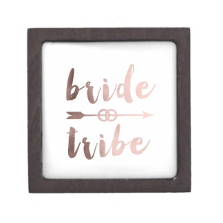 rose gold foil bride tribe arrow wedding rings jewelry box