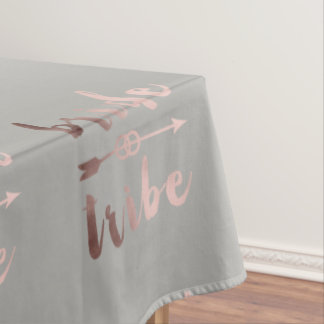 rose gold foil bride tribe arrow wedding rings tablecloth