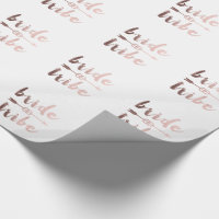 rose gold foil bride tribe arrow wedding rings wrapping paper