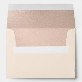 Rose Gold Foil-effect Inside Lined Envelope