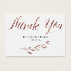 Rose Gold Foil Effect Wedding Favor Tags Floral at Zazzle