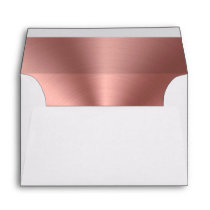 Rose gold foil envelope