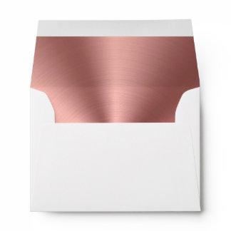 Rose gold foil envelope