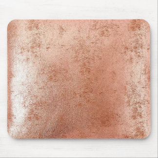 rose gold foil faux effect mouse pad
