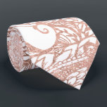 """Rose gold foil hand drawn floral pattern girly neck tie<br><div class=""""desc"""">A modern,  elegant and chic faux rose gold foil effect hand drawn floral pattern featuring flowers,  organic shapes,  geometric pattern and abstract doodles. An intricate and artistic pattern with a touch of glam and elegance. Perfect for the girly girl.</div>"""