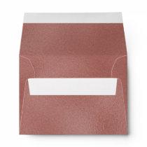 Rose Gold Foil Look Modern 5x7 Envelope