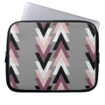 rose gold foil white marble purple black geometric computer sleeve