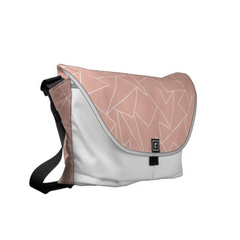 Rose gold geometric messenger bag