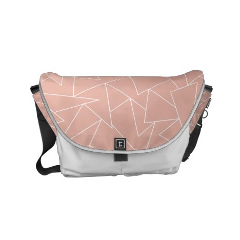 Rose gold geometric small messenger bag