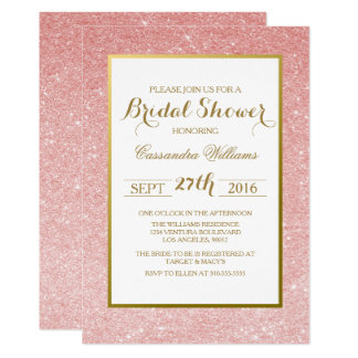 Rose Gold Glitte - Bridal Shower Invitation