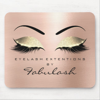 Rose Gold Glitter Branding Beauty Glam Lashes Mouse Pad