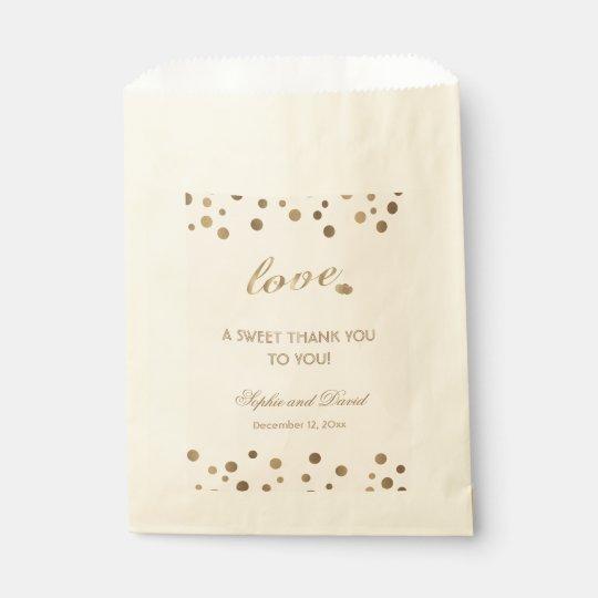 Rose Gold Glitter Champagne Thank You Wedding Favor Bag Zazzle