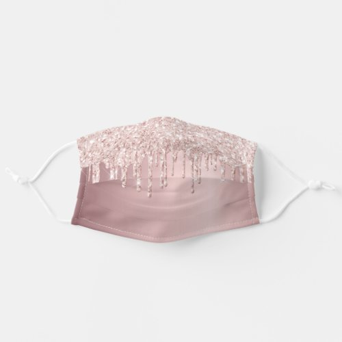 Rose gold glitter drips dripping girly glam cloth face mask