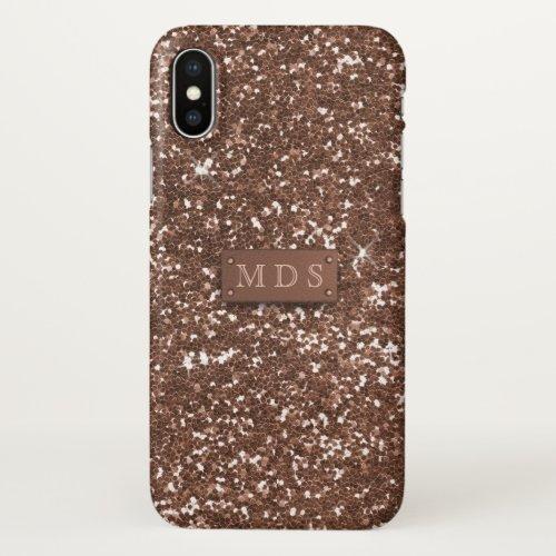 Rose Gold Glitter Faux 3D Monogram Phone Case