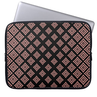 Rose Gold Glitter Geometric Shapes Pattern Computer Sleeve