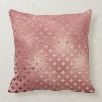 Rose Gold Glitter Glam Sparkle Grill Pillow