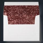 "Rose Gold Glitter Glamour Wedding Envelope<br><div class=""desc"">Chic rose gold glitter wedding invitation envelopes</div>"