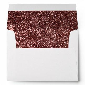 Rose Gold Glitter Glamour Wedding Envelope
