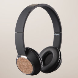 Rose Gold Glitter Headphones