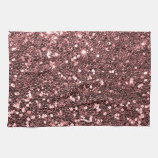 Rose Gold Glitter Kitchen Towels