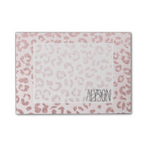 Rose gold glitter leopard pattern pink lace post-it notes