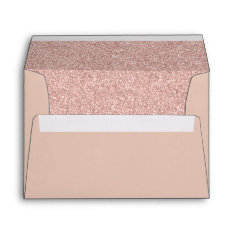 Rose Gold Glitter Modern Elegant Envelope at Zazzle