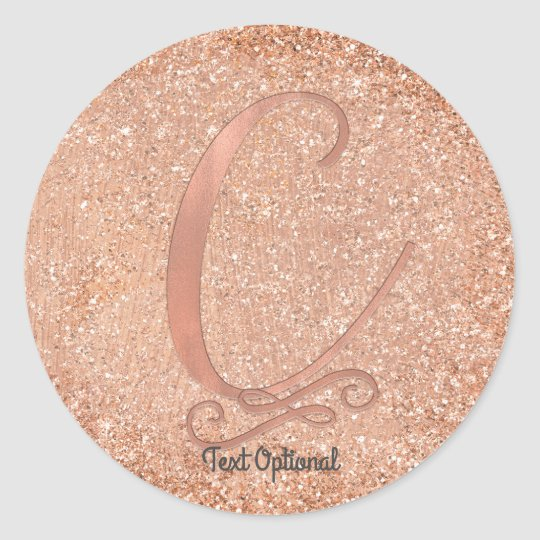 gold glitter personalized initial letter c classic