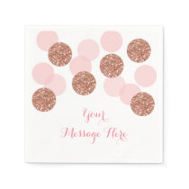 Rose Gold Glitter Personalized Napkins