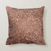 Rose Gold Glitter Pillow