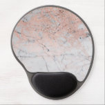 "Rose Gold Glitter Pink Grey Marble Chic Trendy Gel Mouse Pad<br><div class=""desc"">custom mouse pad</div>"