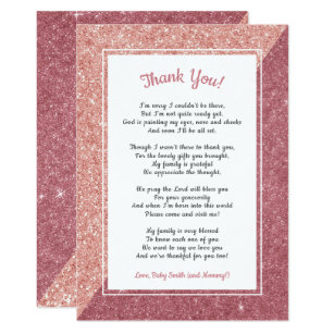 rose gold thank you note invitations zazzle